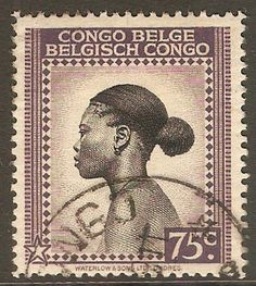 Kayatana Stamps Belgian Congo 1942 Black and slate-lilac. - Fine used 1942 Black and slate-lilac. Belgian Congo, Postage Stamp Art, 17th Century Art, Black History Facts, Vintage Stamps, Stamp Collecting, African Art, Drawings, Underground Railroad