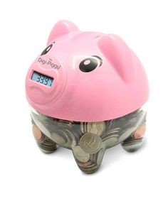 """5 & UP, 5.5""""X6"""", REQUIRES 2 AA'S   Save money and get instant results with this adorable and modern piggy bank. As coins are dropped in a counter keeps track of just how much has been saved up. Teach little ones about the importance of saving and how to manage their money without the fuss of manually counting each coin!"""