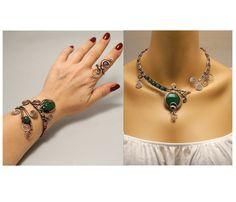Wire Wrapped Jewelry Handmade by BeyhanAkman on Etsy Emerald Jewelry, Copper Jewelry, Wire Jewelry, Gemstone Jewelry, Jewelry Gifts, Jewelry Accessories, Handmade Jewelry, Custom Jewelry, Unique Jewelry