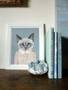 Framed Fine Art Print  Violet  Cats In by HeatherMattoonArt, $42.00