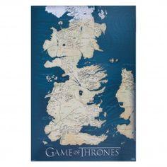 Game of Thrones Westeros Canvas Map [24x36] #gameofthrones #westeros #geek