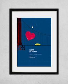 For Living room gallery shelves I left my heart in San Francisco  A3 art print jazz by jesusperea, $40.00