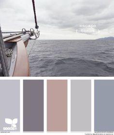 Bronze Copper Gray And Navy Blue Colour Palette