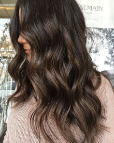 dark brunette hair dyed hair, brown hair balayage и Dark Brunette Hair, Brown Blonde Hair, Dark Hair, Brown Curls, Brown Curly Hair, Brunette Color, Long Brown Hair, Dark Blonde, Brown Hair Balayage