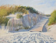 "Beach Afternoon 11""x14"" ©MaryErickson SOLD by Sheldon Fine Art, Newport, RI"