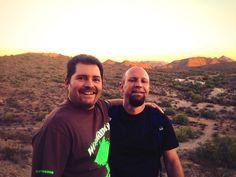 Short hike in AZ with my buddy Tony.