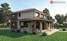 Flat Roof House, Modern House Design, My Dream Home, Ideas Para, Gazebo, Outdoor Structures, Cabin, Decoration, House Styles