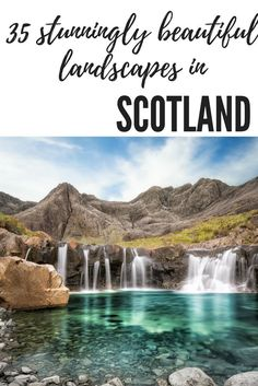 37 Stunningly Beautiful Landscapes in Scotland Scotland in the UK is full of beautiful destinations that you simply can't miss! From the fairy pools on the Isle of Skye, to Orkney, the Highlands and Glencoe and even the cities such as Edinburgh - you NEED Scotland Vacation, Scotland Road Trip, Scotland Travel, Ireland Travel, Scotland Hiking, Glencoe Scotland, Scotland Places To Visit, Visiting Scotland, Inverness Scotland