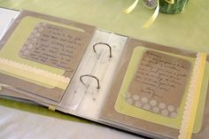 Create an album where friends and family can write advice and messages to the mom to be. So cute!