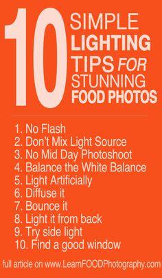10 Simle Lighting Tips for Stunning Food Photos