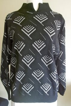 VTG Silver and Black Funksweater 'SilkLeatherandLace' on Etsy