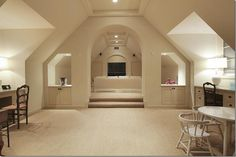 Elegant finished attic.