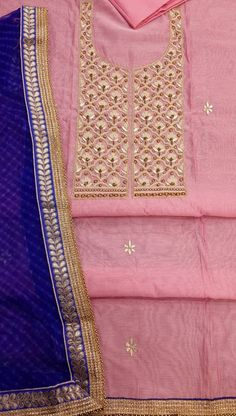 Lucknow Chikan Exclusif Sarabsons Shop No 101, Naveen Market, Kanpur. Designer Embroidered Suit Length 3 Piece Pink Chanderi Cotton Rs. 3,250.00 only. Free Shipping. COD. Order on Call / Whatsapp +91-9918602101 or click to Buy Online
