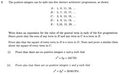 STEP I 2004 Q5 - Arithmetic seqs and proof