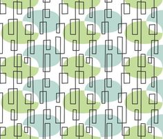 MidMod fabric by melhales on Spoonflower - custom fabric Retro Pattern, Pattern Art, Abstract Pattern, Pattern Design, Mid Century Modern Decor, Mid Century Art, Mid Century Design, Textile Patterns, Textile Design