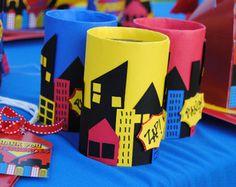 SUPER HERO Party paisaje urbano centro de por PoppiesAndPumpkins