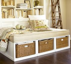 Interesting daybed idea from Pottery Barn