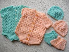 Ravelry: Knitting Pattern No. 12 Newborn Baby Onesie pattern by Lynne Christie