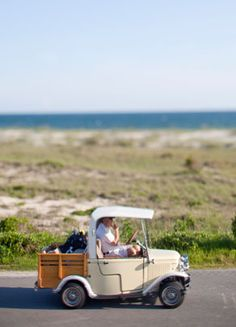The Slower You Go- Bald Head Island NC. Access the island by boat or ferry only. Transportation on the island is only by golf cart or bicycle. Stop Hair Loss, Prevent Hair Loss, Bald Head Island Nc, Custom Golf Carts, Southern Heritage, Going Bald, Beach Buggy, North Carolina Homes, Bald Heads