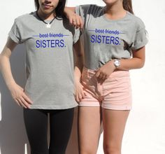 Sisters Best friends shirt Gift for best friend unbiological sisters Tumblr Tee top t shirt  XXS - XXL