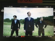 """End of penultimate week of #Sherlock shoot. Luckily our Europop album 'Sauerkraut' is out soon!"""