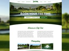 Golf Club Website Homepage