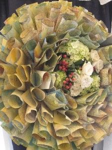 """Recycled map wreath so gorgeous, so unique 26"""" in diameter"""