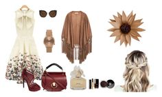 """""""mysterious lady"""" by themostfashion ❤ liked on Polyvore featuring Jolie Moi, Chloé, Jessica Simpson, MANGO, Quay, Topshop, Marc by Marc Jacobs and Chanel"""