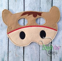 Horse Mask ITH Embroidery Design