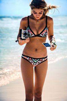 #swimwear Seafolly geometric bikini @wachabuy