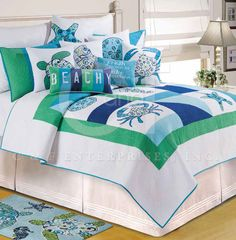 Meridian Waters Quilt Bedding by C & F Enterprises