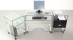 transparent computer desk.  have to be a super neat clean geek.