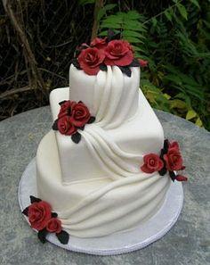 tortas casamiento 2015 cuadradas con rosas - Buscar con Google