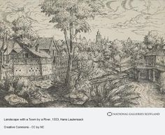 Landscape with a Town by a River (1553)