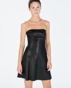 Strapless Faux Leather Dress 20 LBDs to Rock All Holiday Season Long via Brit + Co.