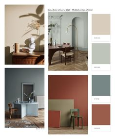 3 Color Universes 2020 by Norwegian company Jotun - colorfulinteriors - Home Decor Room Colors, House Colors, Colours, Interior Paint, Interior Design, Interior Wallpaper, Color Interior, French Interior, Scandinavian Interior