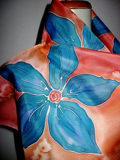 Hand Painted SILK SCARF by SilkMagic on Etsy, $27.00