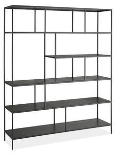 Enjoy the time-tested durability of natural steel and the elegant simplicity of minimal design with our Foshay bookcase. Foshay's clean, modern details make it easy to create a wall full of architectural-style appeal. Each bookcase is made in Minnesota of U.S. and imported materials and features subtle weld marks that are unique to each piece.