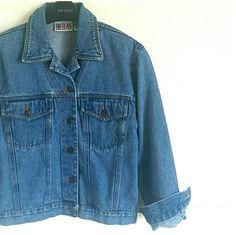 Spotted while shopping on Poshmark: Jean Jacket! #poshmark #fashion #shopping #style #Bill Blass #Jackets & Blazers