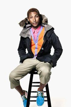 Pharrell Williams always draped in some goods