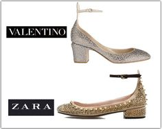 Estos zapatos son tendencia para esta temporada, son clonados de Valentino, si quieres conocer más clonaciones no te pierdas nuestro post. #clonaciones #moda #low #cost #zapatos #estilo #moda