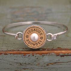 12 Gauge Bangle Bracelet - Great gift idea for the Cowgirl you love! Now $12.98  // Classy, country, and super cute!