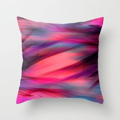 Summer Sky Abstract Throw Pillow Cover by Judy Palkimas - $20.00