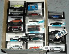 Minichamps a mixed group of 1/43rd scale more recent Ford Cars. To include 1997 Ford Mondeo - silver, 1995 Ford Fiesta - white, 2005 Ford Mustang GT - metallic maroon, 2003 Ford Focus C-MAX, 1997 Ford Ka - metallic blue, 2004 Ford Shelby Cobra Concept Car - silver, plus others to include 2 x unboxed - conditions are generally Excellent to Mint including rigid perspex cases and outer card boxes. (19) paid £120 for in 2009 shame cars were in wrong boxes and loose , sometimes you can get burnt