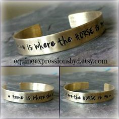 Handstamped Horse Quote Cuff Bracelet  by EquineExpressionsbyD