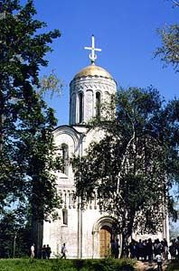City of Vladimir, Russia, St. Demetrius Cathedral