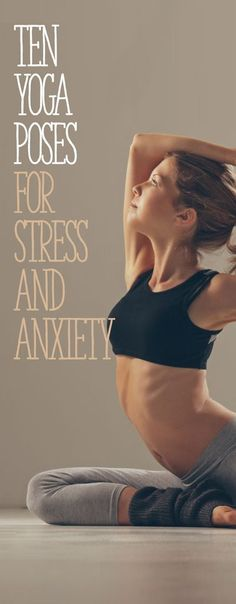 One of the benefits of yoga is creating a balance within oneself. There are yoga poses that benefit many things that trouble individuals and one area with which yoga can be particularly helpful is anxiety. 10 yoga poses can to relieve anxiety. Yoga Inspiration, Fitness Inspiration, Yoga Fitness, Health Fitness, Fitness Workouts, Health Yoga, Health App, Mental Health, Workout Tips