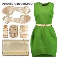 """Bridesmaid"" by minchu ❤ liked on Polyvore featuring Oscar de la Renta, ALDO, Lauren Ralph Lauren, Jenny Packham, Tory Burch, Casadei, BridesMaid, party, formal and alwaysabridesmaid"