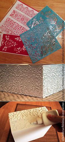 Site of the decoupage fans DCPG. Decoupage Vintage, Decoupage Box, Altered Boxes, Altered Art, Stencil Painting, Painting On Wood, Craft Projects, Projects To Try, Diy And Crafts