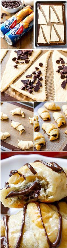 20 Minute Chocolate Croissants